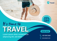 Travel Agency Banner Ad Postal template