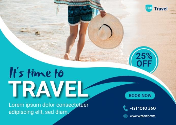 Travel Agency Banner Ad Postkort template