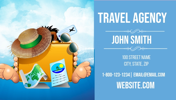 Travel Agency Business Card Template Postermywall