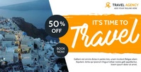 travel agency facebook advertising template
