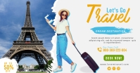 Travel agency facebook shared post template