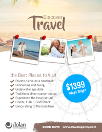 Travel Agency Flyer Ads Poster