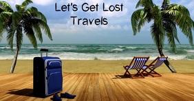 Travel Agency Flyer delt Facebook-billede template