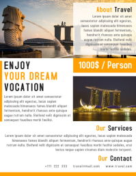 Travel Agency Flyer Template Design
