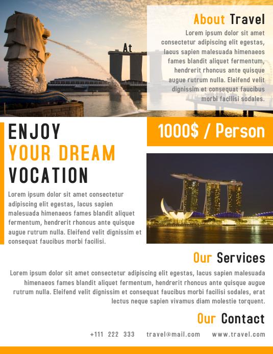 Travel Agency Flyer Template Design