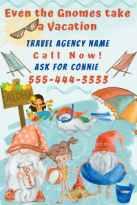 Travel Agency Funny Pinterest Ad Size template