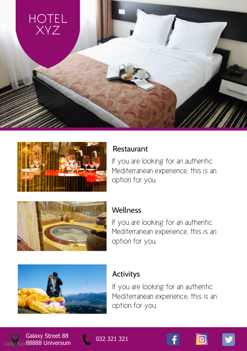 Travel Agency Holiday Tour Trip Beach Hotel A4 template