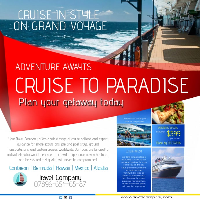 Travel Agency Instagram Template Postermywall