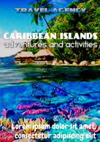 Travel Agency Poster- Caribbean