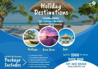 Travel Agency Promotional Ad Postal template