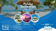 Travel Agency Promotional Ad Twitter Post template