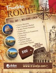 Travel Agency Rome Italy Flyer Poster