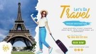 Travel agency twitter post Twitter-bericht template