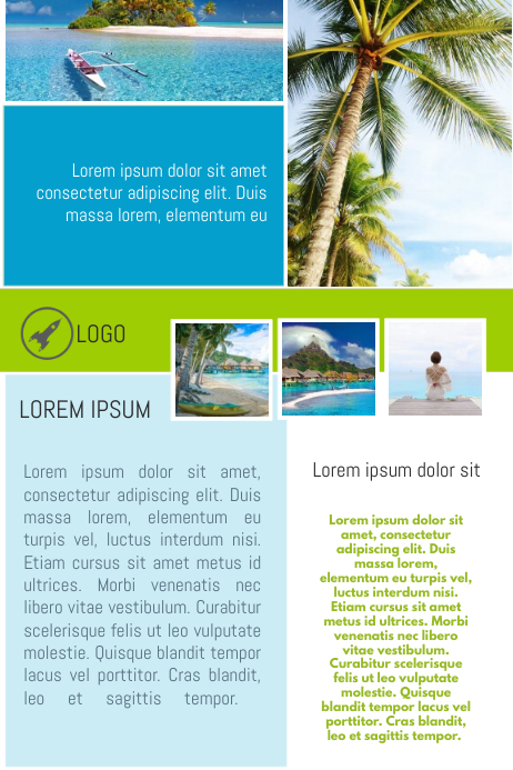 travel agency vacation infographic infograph flyer template