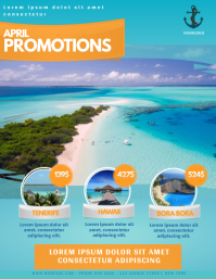 Travel Agency Vacation Offer Promotion Flyer Template