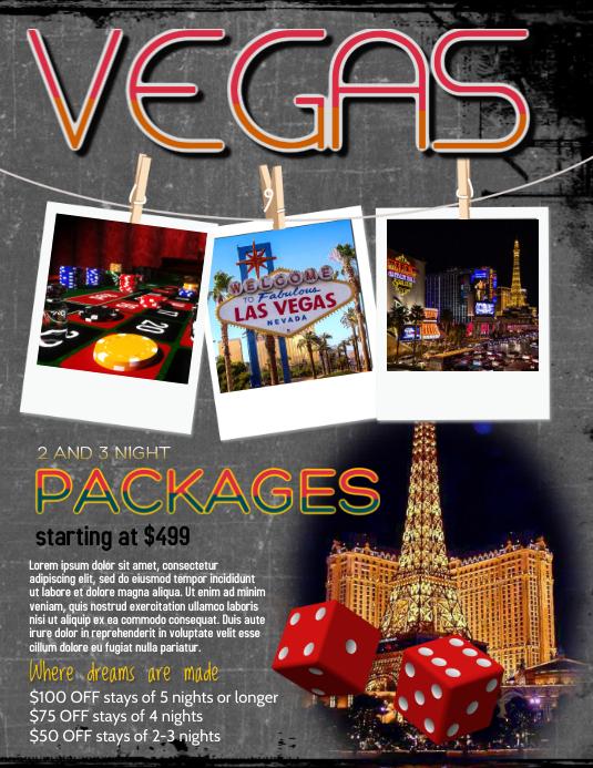 Travel Agency Vegas Flyer Template