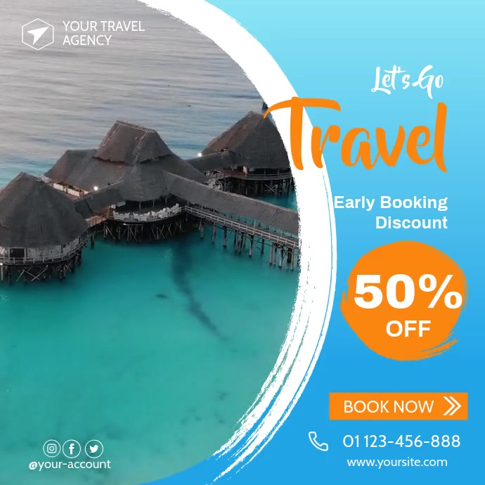 Travel Agency Video, Travel Design Template V Pos Instagram