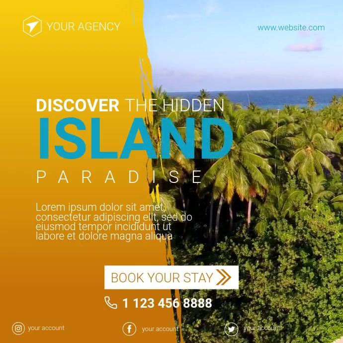 Travel Agency Video, Travel Design Template V Instagram-bericht