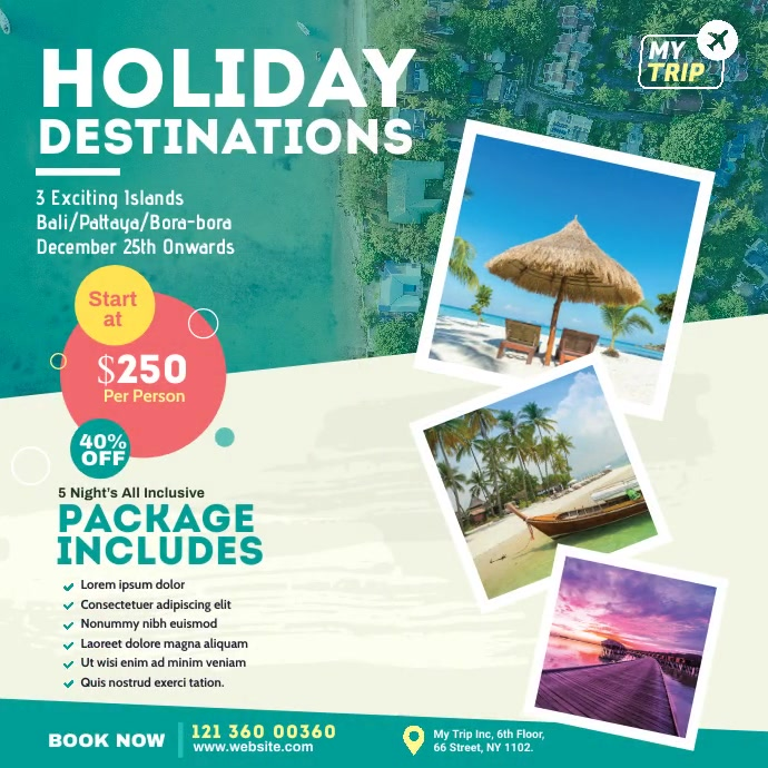 Travel Agency Video Ad Pos Instagram template