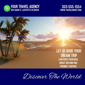 Travel Agency Video Square (1:1) template