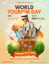 Travel Agency World Tourism Day Advert Flyer (US Letter) template