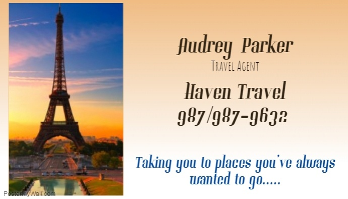 Travel Agent Business Card Template Postermywall