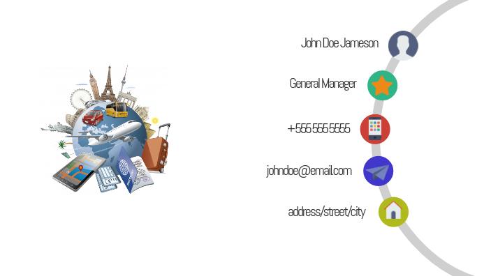 Travel Agent BusinessCard Tarjeta de Presentación template