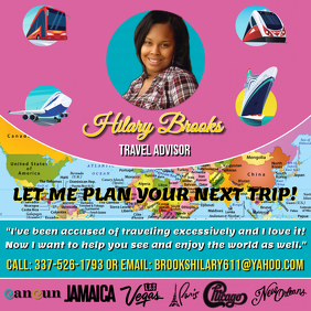 TRAVEL AGENT FLYER TEMPLATE