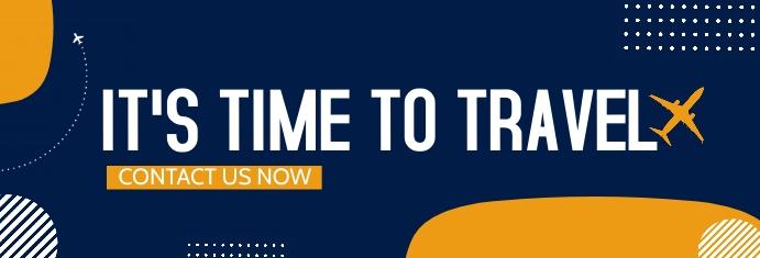 travel and tour Spanduk LinkedIn template