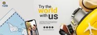 travel and tour Portada de Facebook template