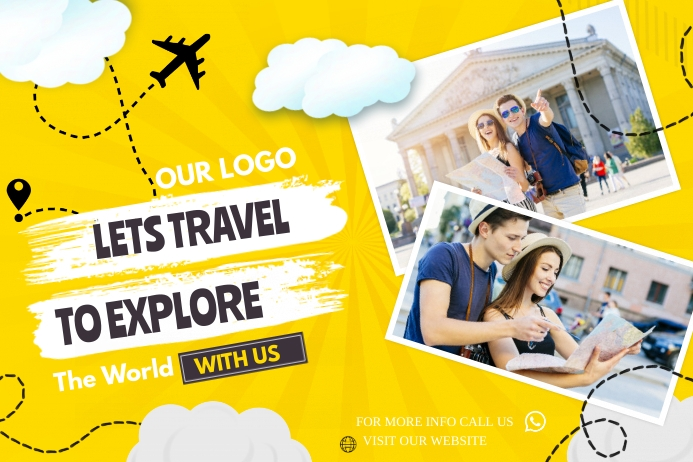 travel and tour Plakat template