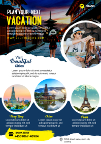 travel and tour A4 template