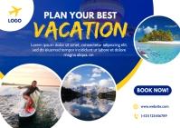 Travel Banner Design Cartolina template