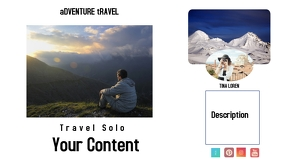 Travel Blog Header template