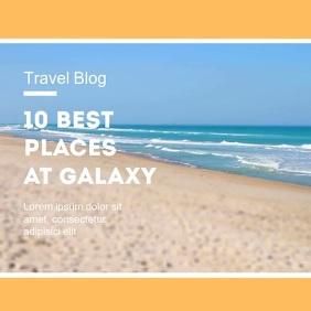 Travel Blog Instagram Advert Beach Summer Vierkant (1:1) template