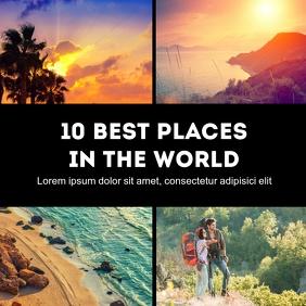 Travel Blog Instagram Advert Beach Summer Instagram-bericht template
