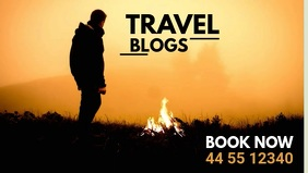 Travel Blogs Facebook Header Video Ad