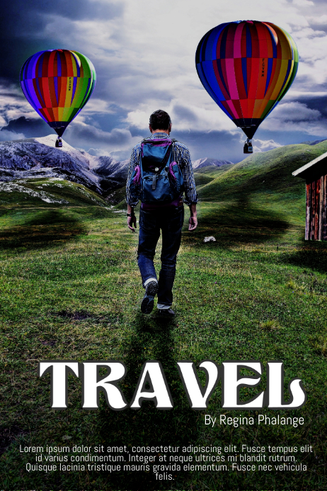 Travel Book Cover Movie Film Template