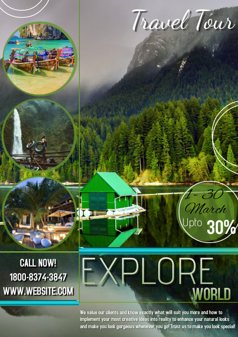 Travel flyer template free customize