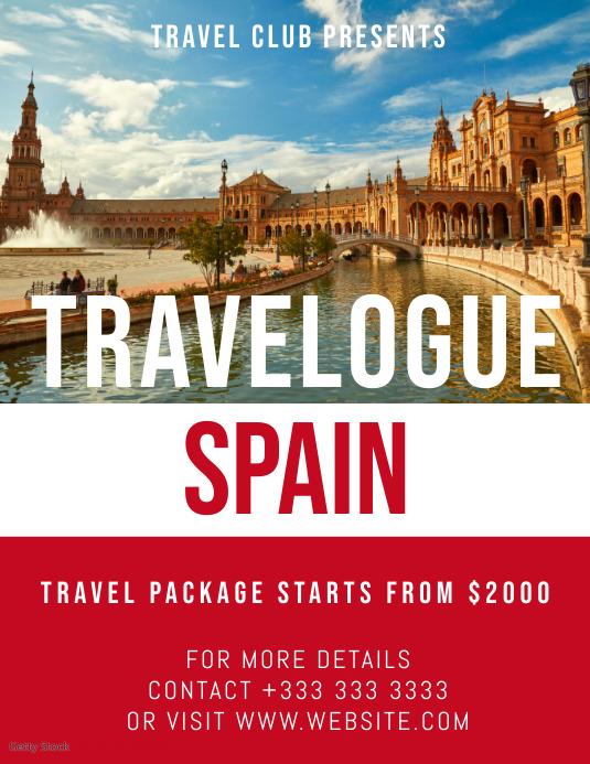 travel Flyer (US Letter) template