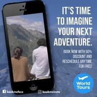 Travel design template video advertising Instagram Plasing