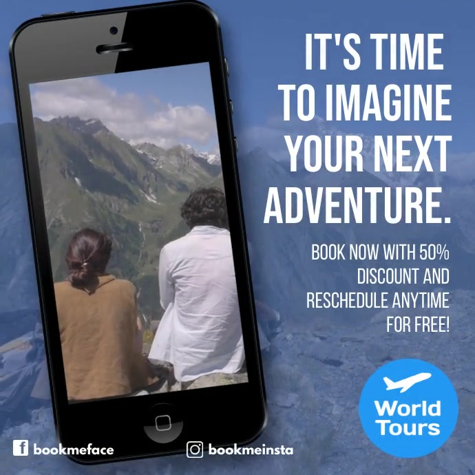 Travel design template video advertising Pos Instagram