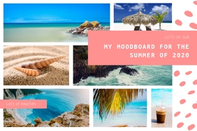 Travel Destination Moodboard Poster Template