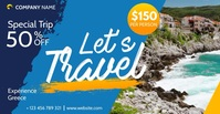 travel facebook advertising online banner Umkhangiso we-Facebook template