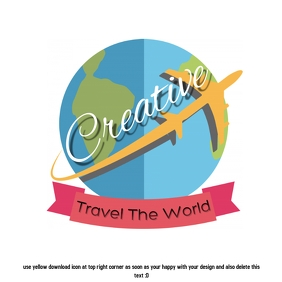 travel flight logo design template
