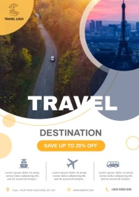 Travel flyer A4 template