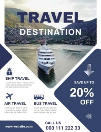 Travel flyer Volante (Carta US) template