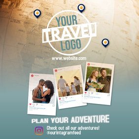 Travel flyer Instagram