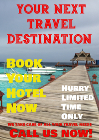 Travel flyer poster template
