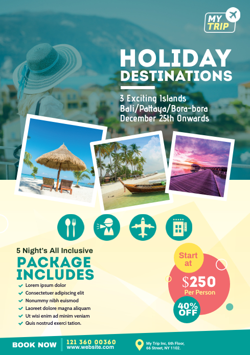 Travel Flyer Template A4